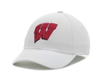 Wisconsin Badgers New Era 39Thirty Team Classic White Flex Fit Hat (Adult M/L)