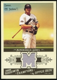 2009 Upper Deck Goodwin Champions Memorabilia #DA Johnny Damon