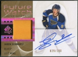 2012/13 SP Authentic #232 Jaden Schwartz Limited Rookie Patch Auto #029/100