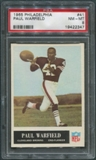1965 Philadelphia Football #41 Paul Warfield Rookie PSA 8 (NM-MT) *2347