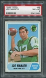1968 Topps Football #65 Joe Namath PSA 8 (NM-MT) *2453