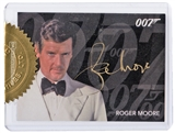 2014 Rittenhouse James Bond Archives Case Exclusives #RMG Roger Moore Gold Autograph 6 Case Incentive