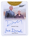 2014 Rittenhouse James Bond Archives Case Exclusives #DGJD Daniel Craig Dame Judi Dench Dual (9CI) Autograph