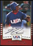 2008 Upper Deck Timeline Team USA Signatures #KD Kentrail Davis Autograph