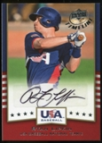 2008 Upper Deck Timeline Team USA Signatures #RL Ryan Lipkin Autograph