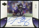 2006 Upper Deck Exquisite Collection Endorsements #EEMA Derrick Mason Autograph /15