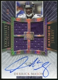 2006 Upper Deck Exquisite Collection Maximum Jersey Silver #XXLDM Derrick Mason /75
