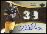 2006 Upper Deck Exquisite Collection Signature Numbers #ESNWP Willie Parker Autograph /39