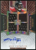 2006 Upper Deck Exquisite Collection Maximum Jersey Signature #XXLAC Alge Crumpler Autograph /5
