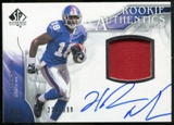 2009 Upper Deck SP Authentic #382 Hakeem Nicks RC Jersey Autograph /999