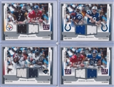 2005 Upper Deck SPX Football Winning Materials Jersey Lot (12 cards)