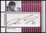 2013-14 In the Game ITG Used Autothreads #ATPF Peter Forsberg Autograph SP /10