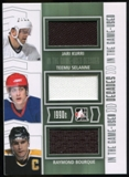 2013-14 In the Game ITG Used Decades Triple Jerseys Silver #D12 Jari Kurri/Teemu Selanne/Raymond Bourque /60