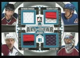 2013-14 In the Game ITG Used Game Used All Star Quad Jerseys Silver #ASQJ09 Raymond Bourque/Theoren Fleury/Joe