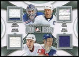 2013-14 In the Game ITG Used Game Used Quad Jerseys Silver #QJ02 Henrik Lundqvist/Mats Sundin/Nicklas Lidstrom