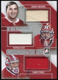2013-14 In the Game ITG Used Guarding the Net Triple Jerseys Silver #GTN12 Rogie Vachon/Patrick Roy/Carey Pric