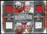 2013-14 In the Game ITG Used International Influence Quad Jerseys Silver #II05 Mario Lemieux/Dale Hawerchuk/St