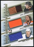 2013-14 In the Game ITG Used Past Present and Future Jerseys Gold #PPF16 Mike Bossy Jakub Voracek Virtanen /10