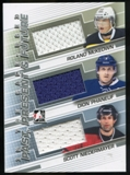 2013-14 In the Game ITG Used Past Present and Future Jerseys Silver #PPF10 Scott Niedermayer/Dion Phaneuf/Rola