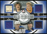 2013-14 In the Game ITG Used Quad Franchise Jerseys Silver #QF11 Bernie Federko/Brett Hull/Al MacInnis/Keith T