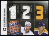 2013-14 In the Game ITG Used Stat Leaders Triple Jerseys Silver #SL04 Wayne Gretzky/Jaromir Jagr/Marcel Dionne