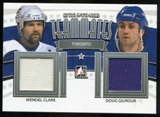 2013-14 In the Game ITG Used Teammates Jerseys Silver #TM02 Wendel Clark/Doug Gilmour /60
