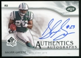2009 Upper Deck SP Authentic Autographs #SPSG Shonn Greene Autograph