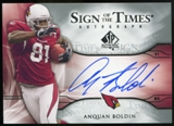 2009 Upper Deck SP Authentic Sign of the Times #STAB Anquan Boldin Autograph