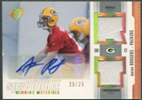 2005 SPx #AR Aaron Rodgers Rookie Winning Materials Jersey Auto #20/25