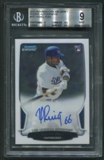 2013 Bowman Chrome Draft #YP Yasiel Puig Rookie Auto BGS 9