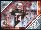 2009 Upper Deck Draft Edition Autographs Blue #12 Hunter Cantwell Autograph /25