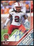 2009 Upper Deck Draft Edition Autographs Blue #25 Kevin Barnes Autograph /25