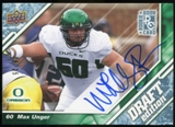 2009 Upper Deck Draft Edition Autographs Blue #47 Max Unger Autograph /25