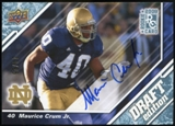 2009 Upper Deck Draft Edition Autographs Blue #64 Maurice Crum Autograph /25