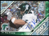 2009 Upper Deck Draft Edition Autographs Blue #68 Troy Kropog Autograph /25