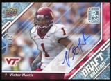 2009 Upper Deck Draft Edition Autographs Blue #72 Victor Harris Autograph /25