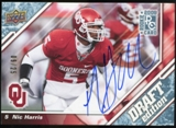 2009 Upper Deck Draft Edition Autographs Blue #99 Nic Harris Autograph /25