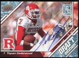 2009 Upper Deck Draft Edition Autographs Blue #119 Tiquan Underwood Autograph /25