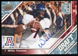 2009 Upper Deck Draft Edition Autographs Blue #133 Willie Tuitama Autograph /25