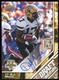 2009 Upper Deck Draft Edition Autographs Copper #22 D.J. Moore Autograph /50