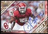 2009 Upper Deck Draft Edition Autographs Copper #39 Duke Robinson Autograph /50