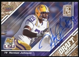 2009 Upper Deck Draft Edition Autographs Copper #42 Herman Johnson Autograph /50