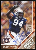 2009 Upper Deck Draft Edition Autographs Copper #53 Sen'Derrick Marks Autograph /50
