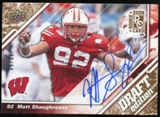 2009 Upper Deck Draft Edition Autographs Copper #74 Matt Shaughnessy Autograph /50