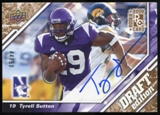2009 Upper Deck Draft Edition Autographs Copper #80 Tyrell Sutton Autograph /50