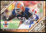 2009 Upper Deck Draft Edition Autographs Copper #108 Xavier Fulton Autograph /50