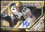 2009 Upper Deck Draft Edition Autographs Copper #109 Andrew Gardner Autograph /50