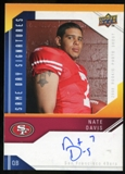2009 Upper Deck Same Day Signatures #SDND Nate Davis Autograph
