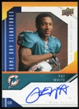 2009 Upper Deck Same Day Signatures #SDPW Pat White Autograph