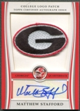 2009 Bowman Draft #MS Matthew Stafford Rookie College Logo Patch Auto #12/25
